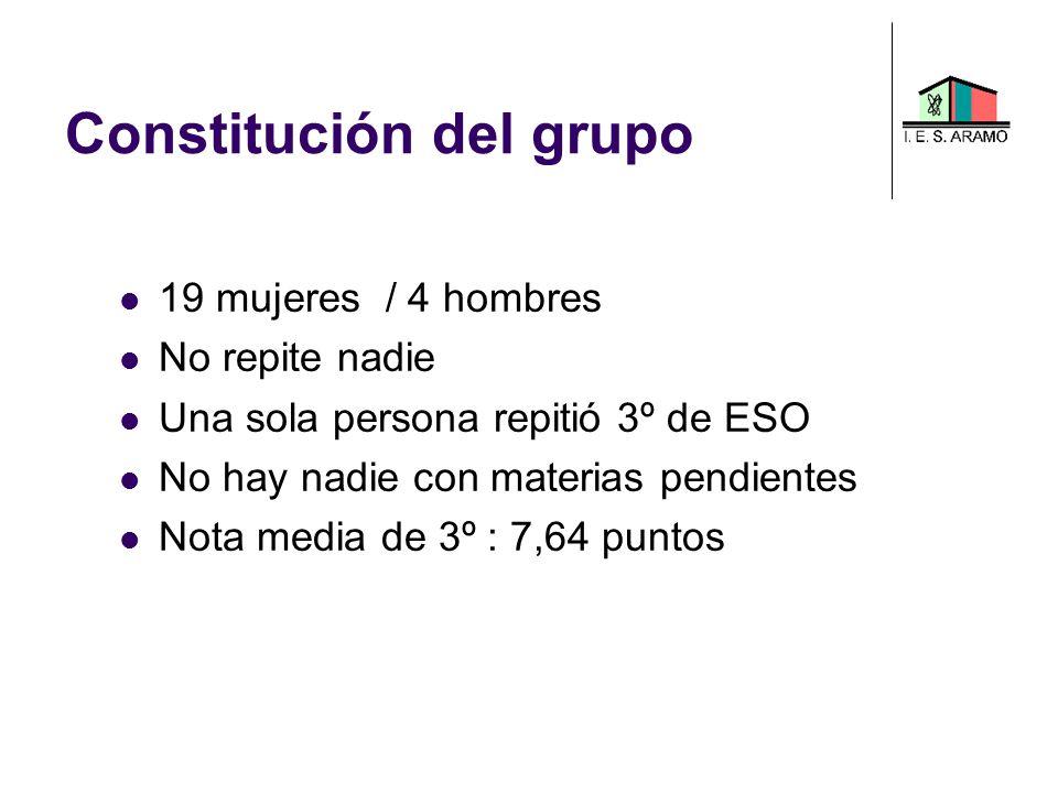 Constitución del grupo