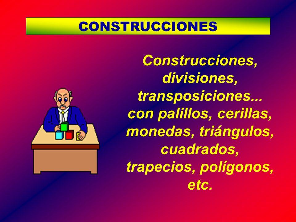 CONSTRUCCIONES Construcciones, divisiones, transposiciones...