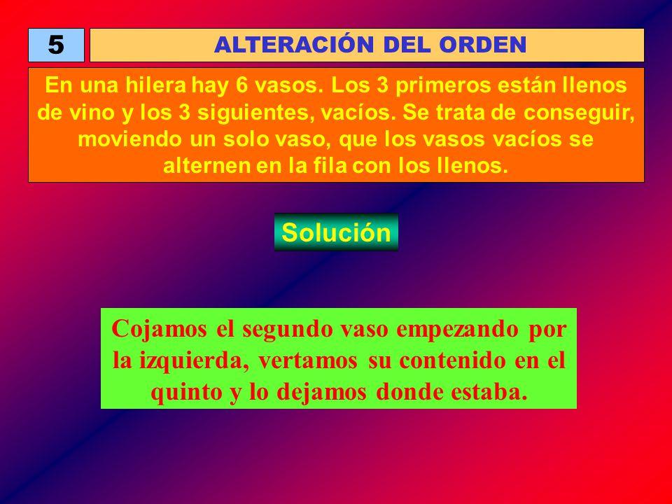 5 ALTERACIÓN DEL ORDEN.