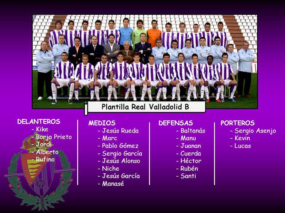 Plantilla Real Valladolid B