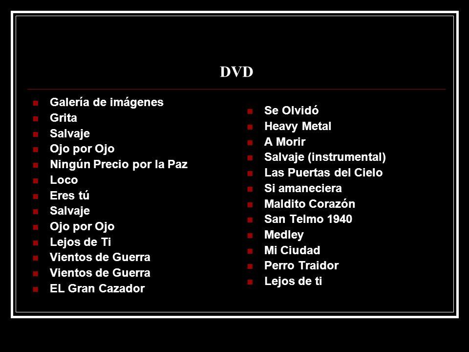 DVD Galería de imágenes Grita Se Olvidó Salvaje Heavy Metal