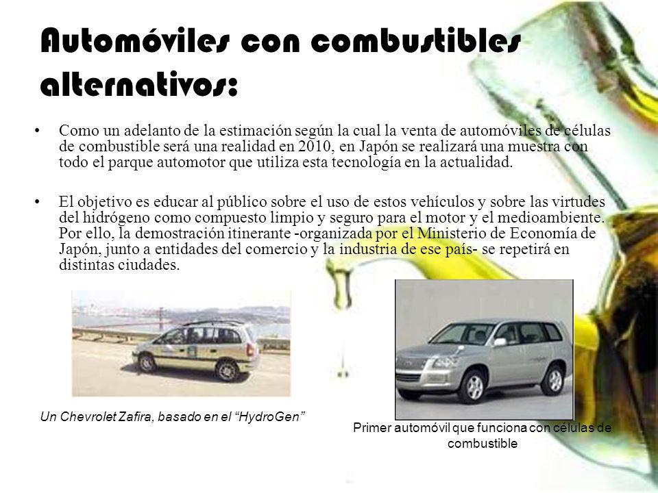 Automóviles con combustibles alternativos: