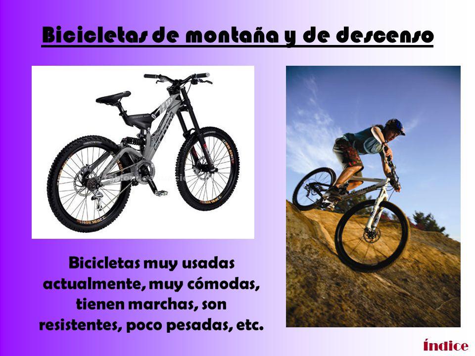 Bicicletas de montaña y de descenso