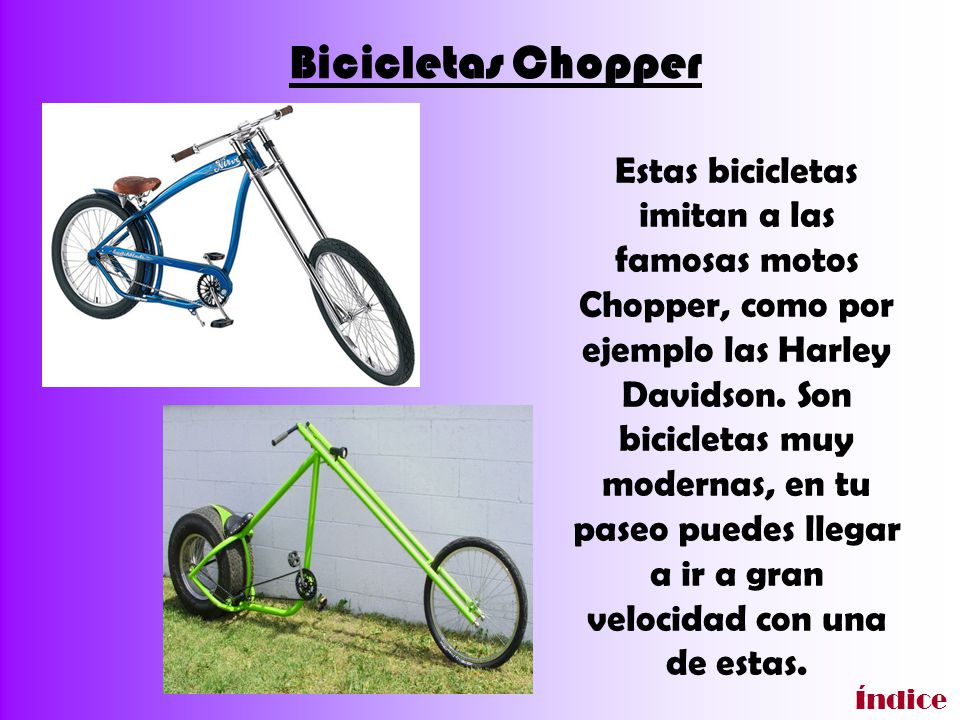 Bicicletas Chopper