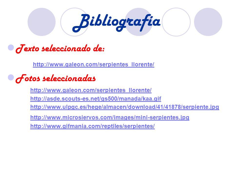 Bibliografía Texto seleccionado de: