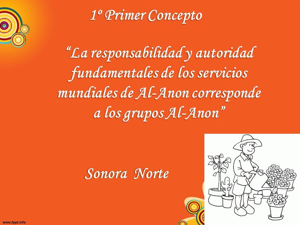 1º Primer Concepto La responsabilidad y autoridad fundamentales de los servicios mundiales de Al-Anon corresponde a los grupos Al-Anon