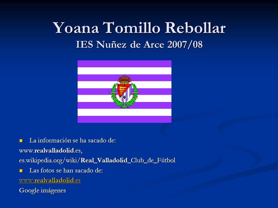 Yoana Tomillo Rebollar IES Nuñez de Arce 2007/08