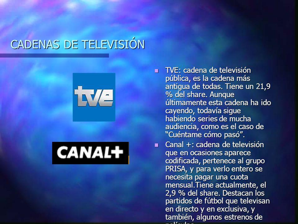 CADENAS DE TELEVISIÓN