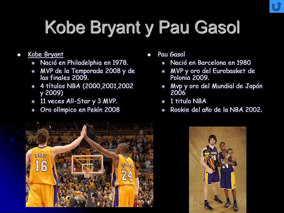 Kobe Bryant y Pau Gasol Kobe Bryant Nació en Philadelphia en 1978.