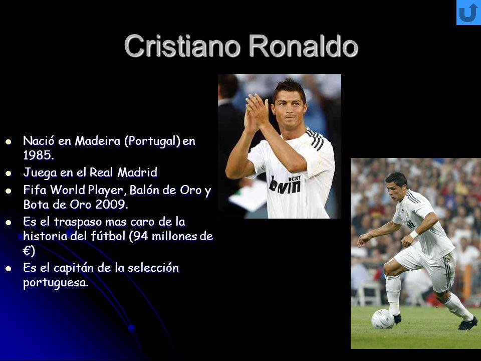 Cristiano Ronaldo Nació en Madeira (Portugal) en 1985.
