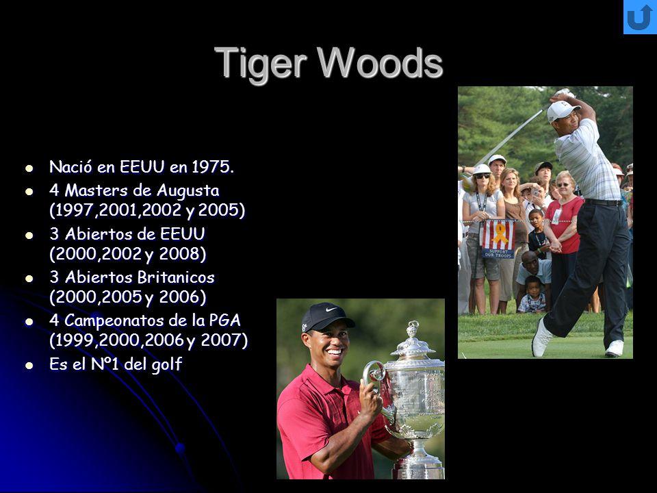 Tiger Woods Nació en EEUU en 1975.