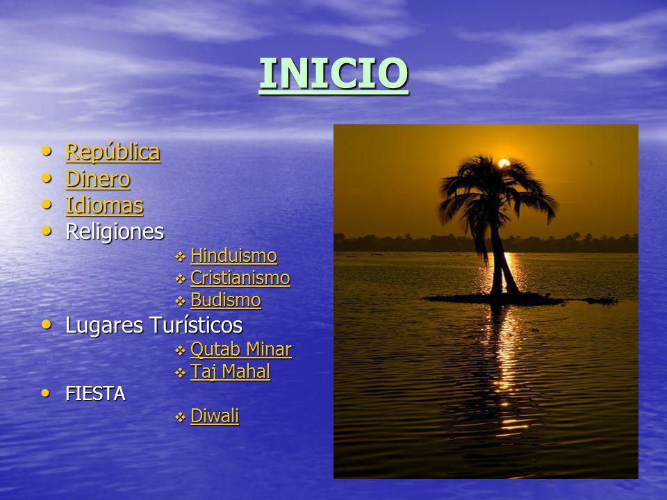 INICIO República Dinero Idiomas Religiones Lugares Turísticos