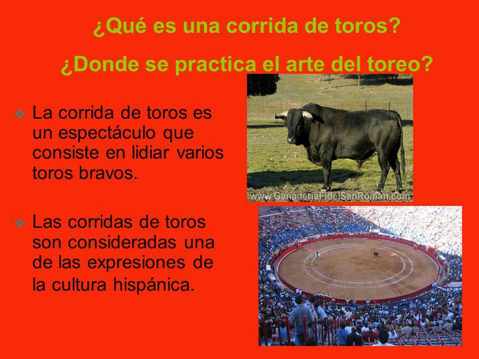 ¿Qué es una corrida de toros ¿Donde se practica el arte del toreo