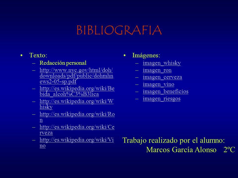 BIBLIOGRAFIA Trabajo realizado por el alumno: Marcos García Alonso 2ºC