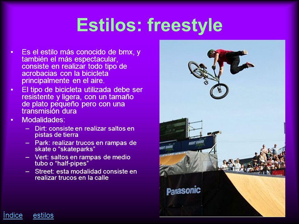 Estilos: freestyle