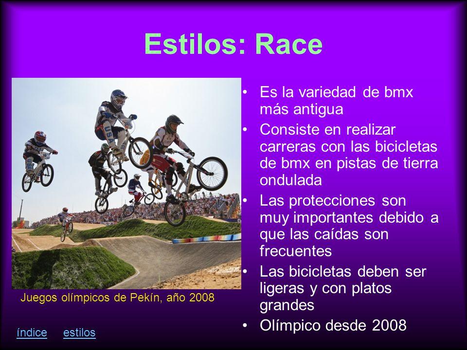 Estilos: Race Es la variedad de bmx más antigua