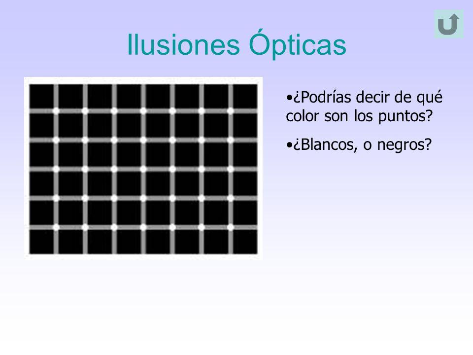 Ilusiones Ópticas ¿Podrías decir de qué color son los puntos