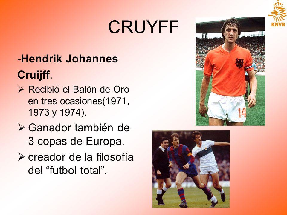 CRUYFF -Hendrik Johannes Cruijff.