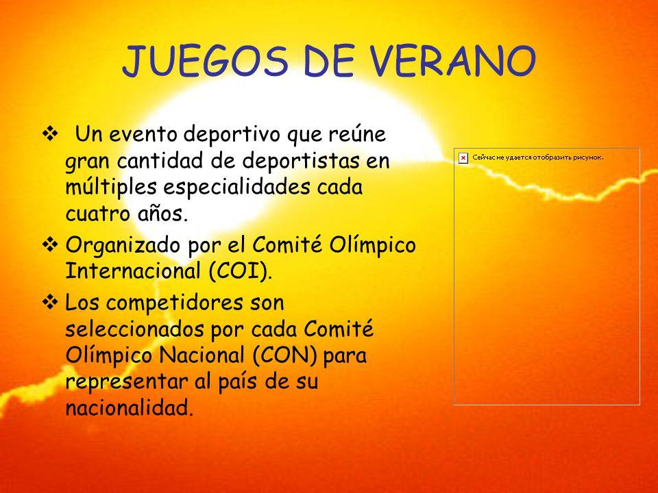 JUEGOS DE VERANO Un evento deportivo que reúne gran cantidad de deportistas en múltiples especialidades cada cuatro años.