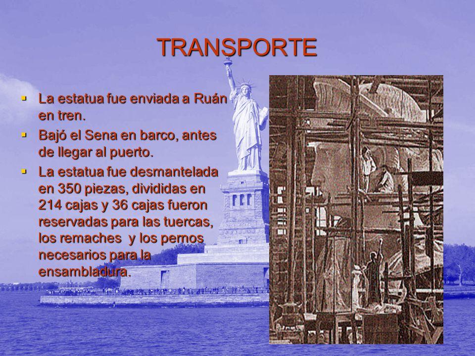 TRANSPORTE La estatua fue enviada a Ruán en tren.