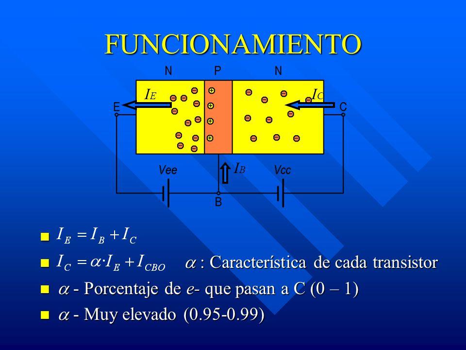 FUNCIONAMIENTO  : Característica de cada transistor