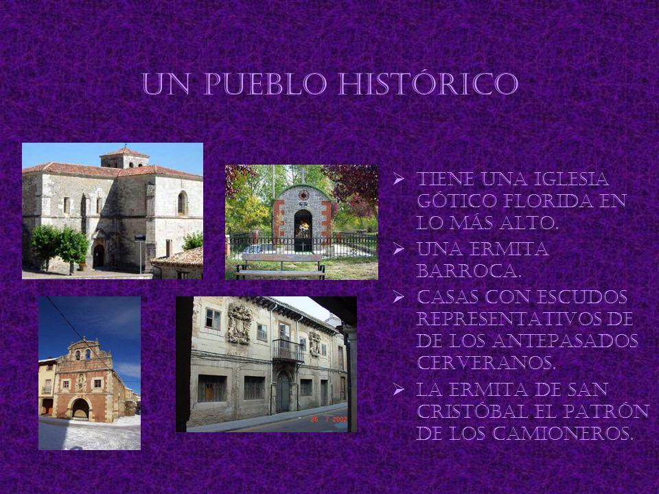 Un pueblo histórico Tiene una iglesia gótico florida en lo más alto.