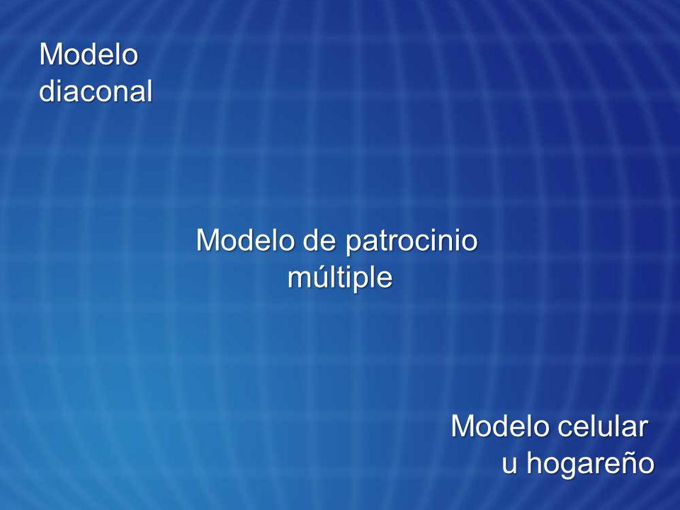 Modelo diaconal Modelo de patrocinio múltiple Modelo celular