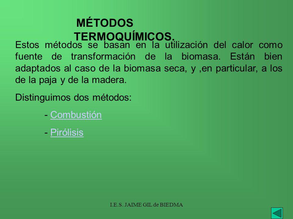 MÉTODOS TERMOQUÍMICOS.