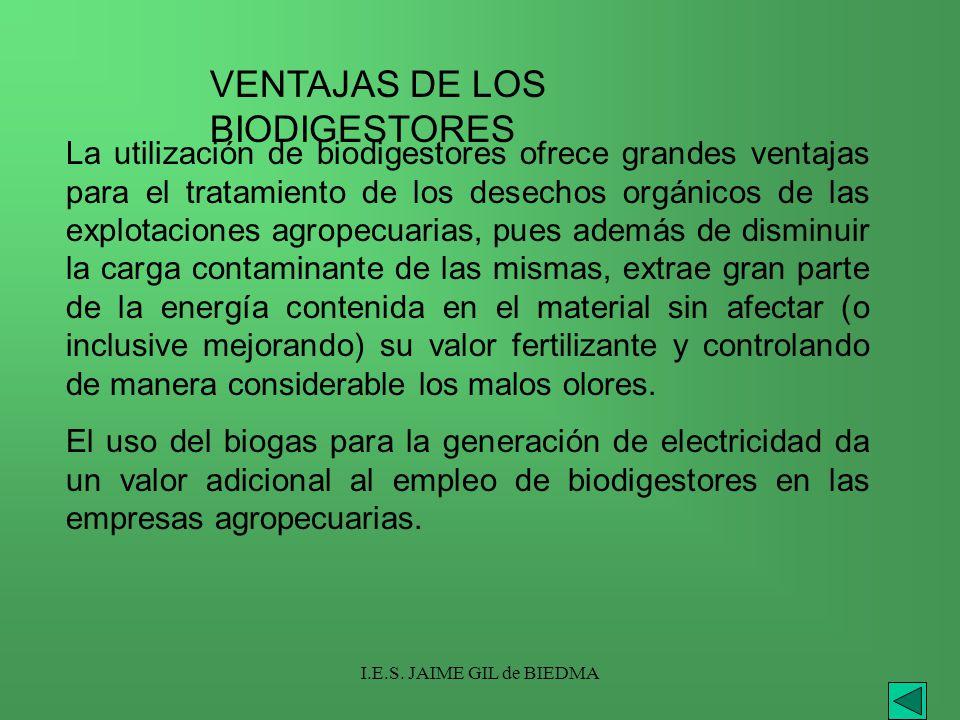 VENTAJAS DE LOS BIODIGESTORES