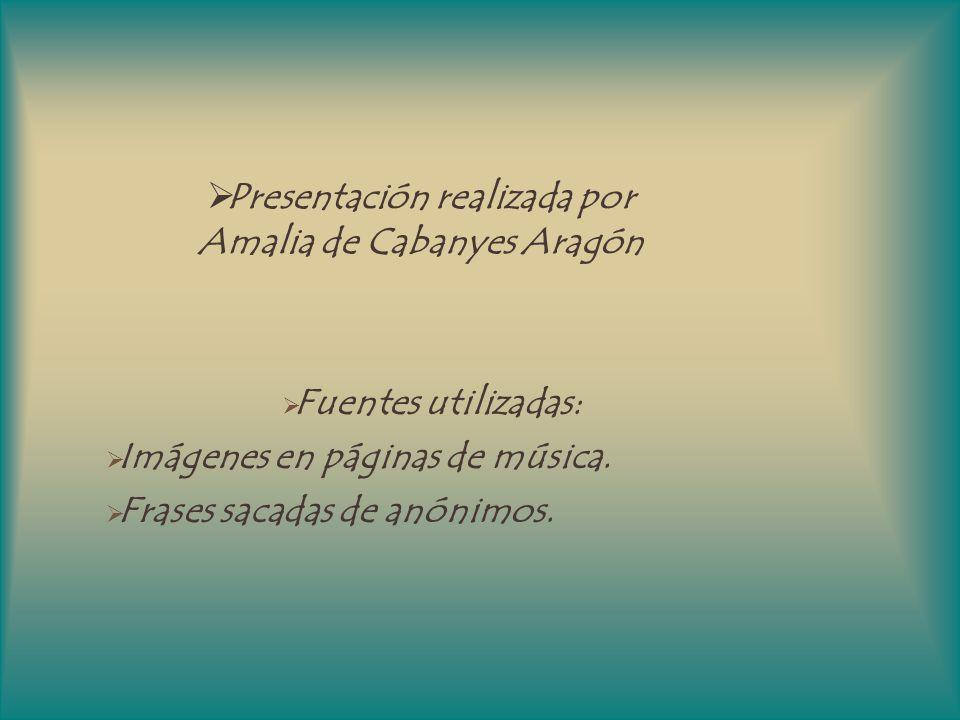 Presentación realizada por Amalia de Cabanyes Aragón