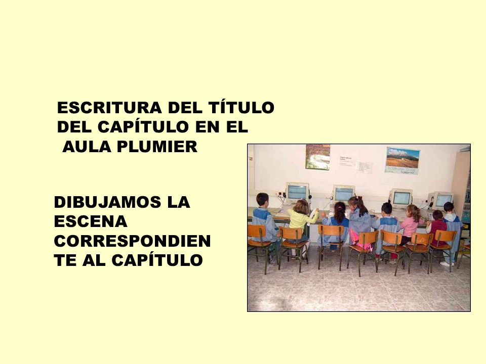 ESCRITURA DEL TÍTULO DEL CAPÍTULO EN EL. AULA PLUMIER.