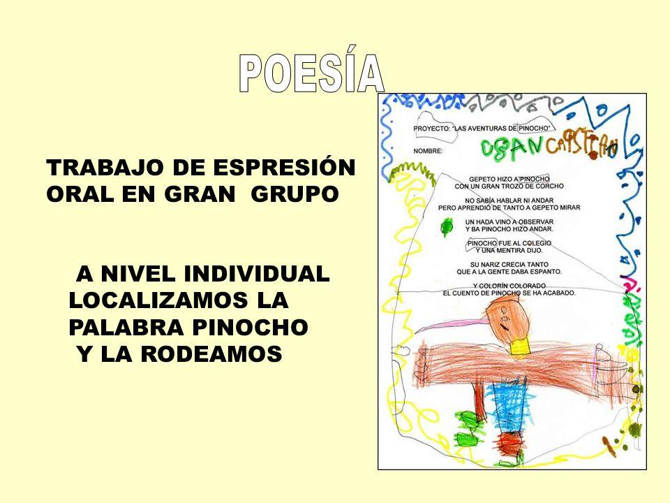 POESÍA TRABAJO DE ESPRESIÓN ORAL EN GRAN GRUPO A NIVEL INDIVIDUAL