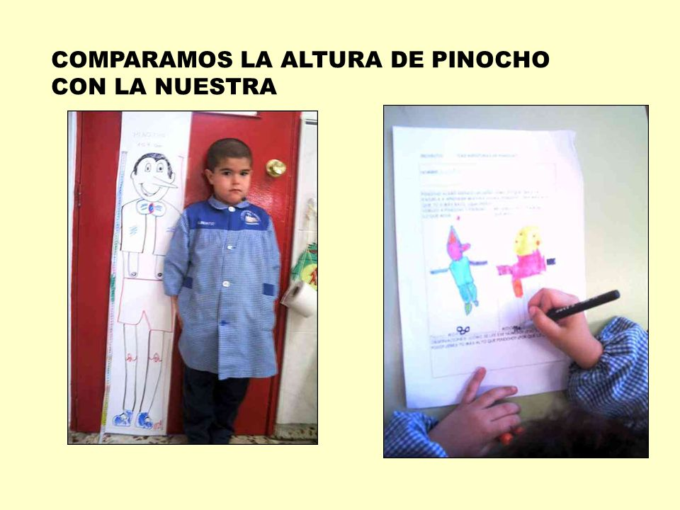 COMPARAMOS LA ALTURA DE PINOCHO