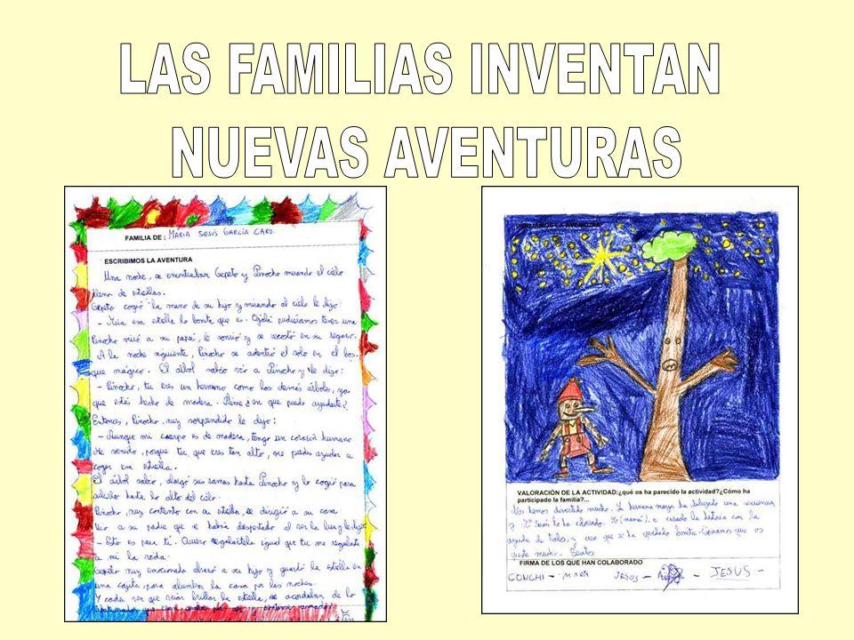 LAS FAMILIAS INVENTAN NUEVAS AVENTURAS