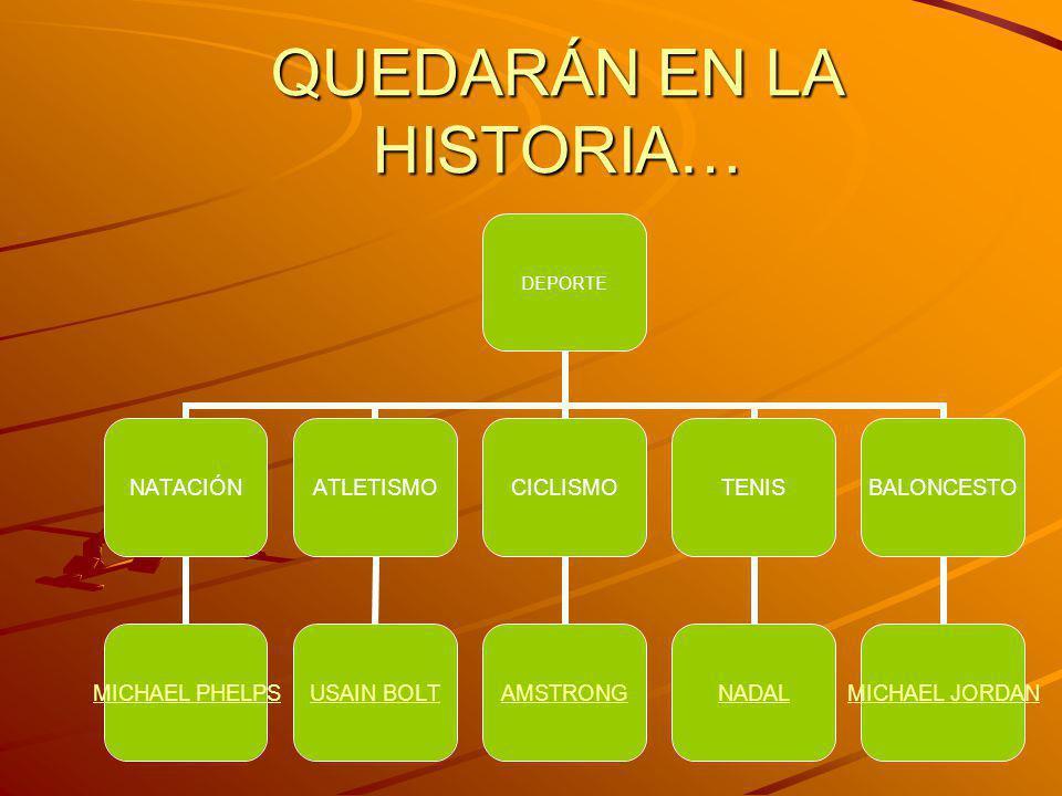 QUEDARÁN EN LA HISTORIA…