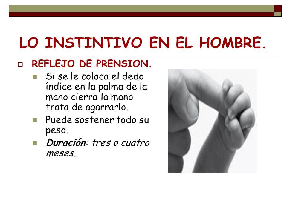 LO INSTINTIVO EN EL HOMBRE.