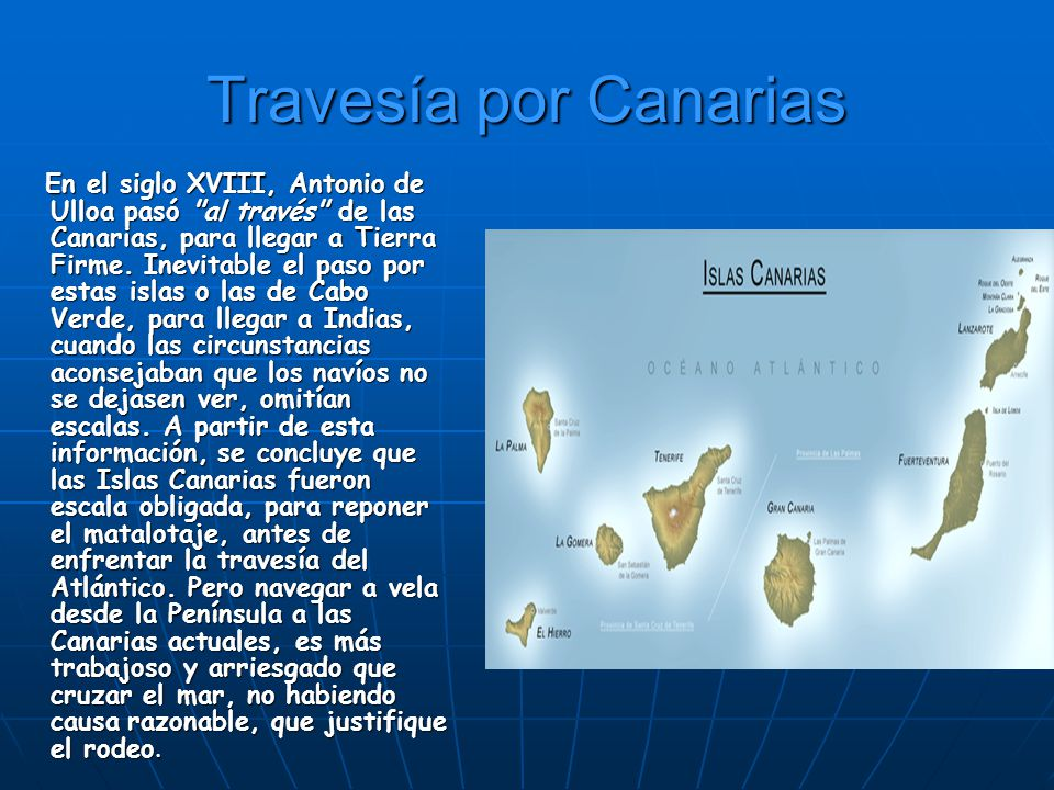 Travesía por Canarias