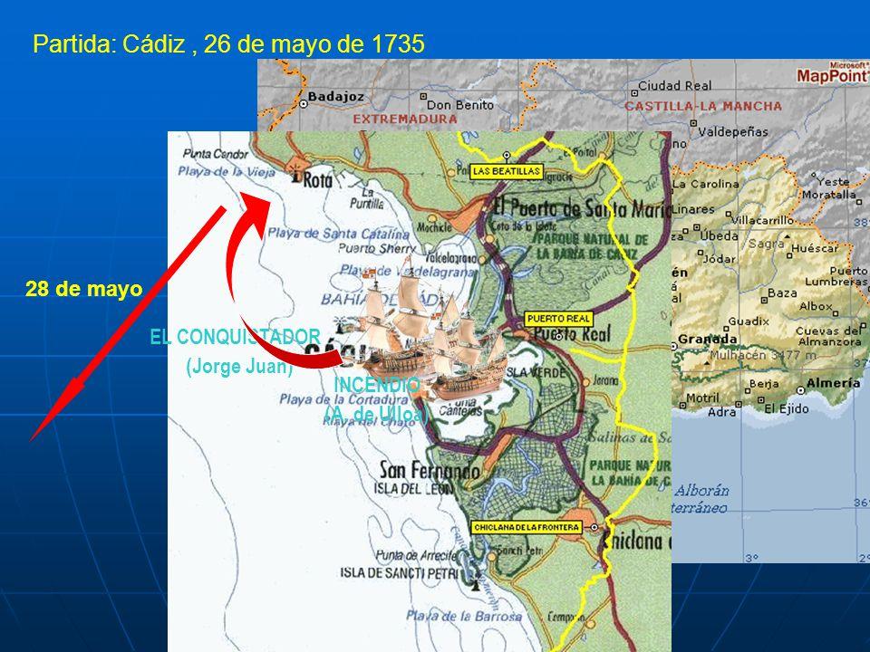 Partida: Cádiz , 26 de mayo de 1735