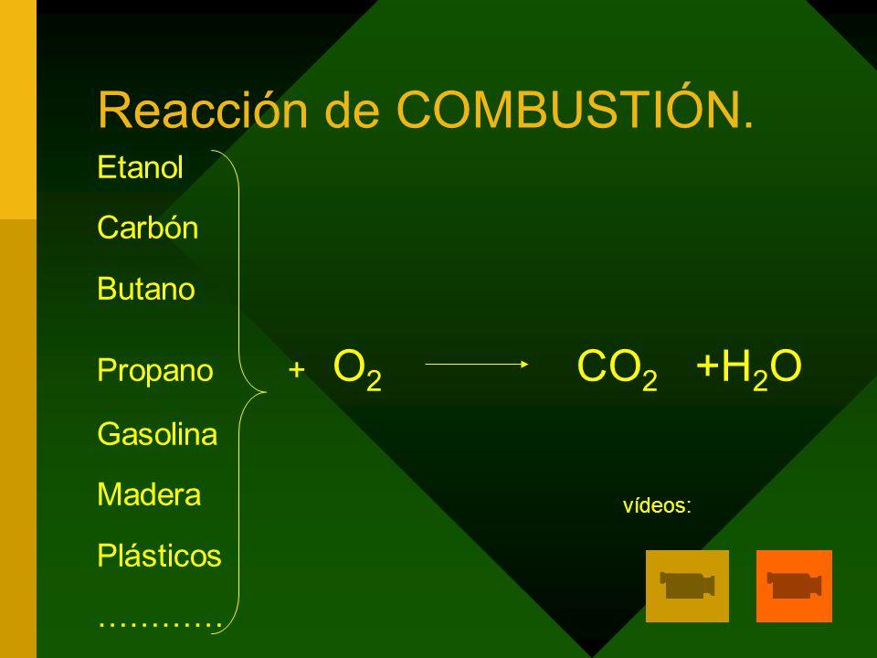 Reacción de COMBUSTIÓN.