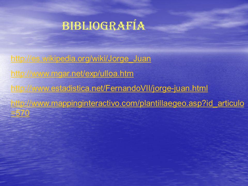 Bibliografía http://es.wikipedia.org/wiki/Jorge_Juan