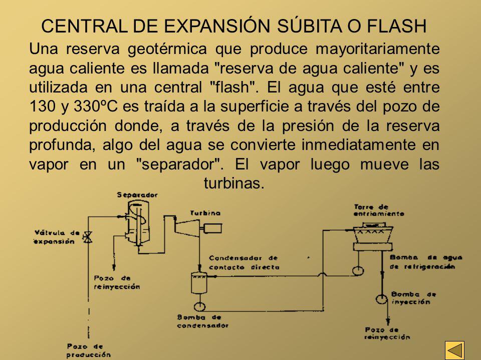 CENTRAL DE EXPANSIÓN SÚBITA O FLASH