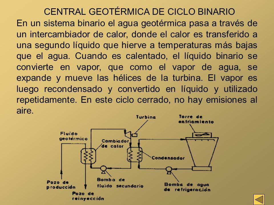 CENTRAL GEOTÉRMICA DE CICLO BINARIO