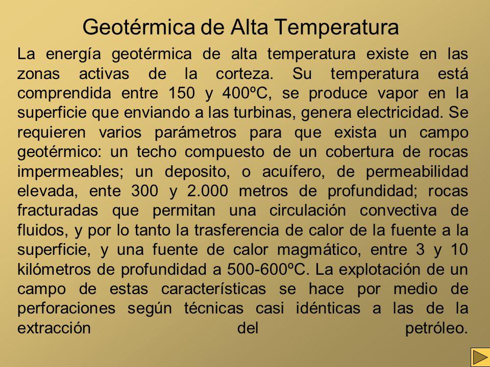 Geotérmica de Alta Temperatura