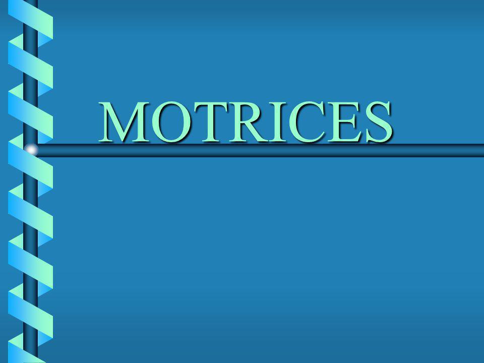 MOTRICES