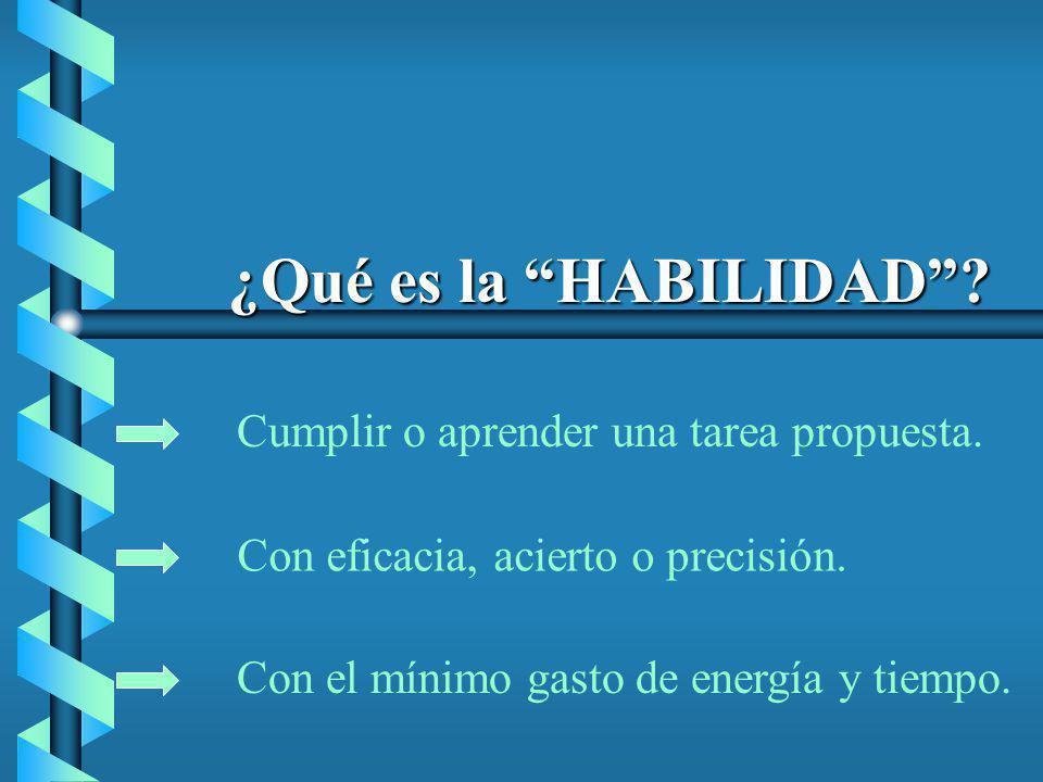¿Qué es la HABILIDAD Cumplir o aprender una tarea propuesta.