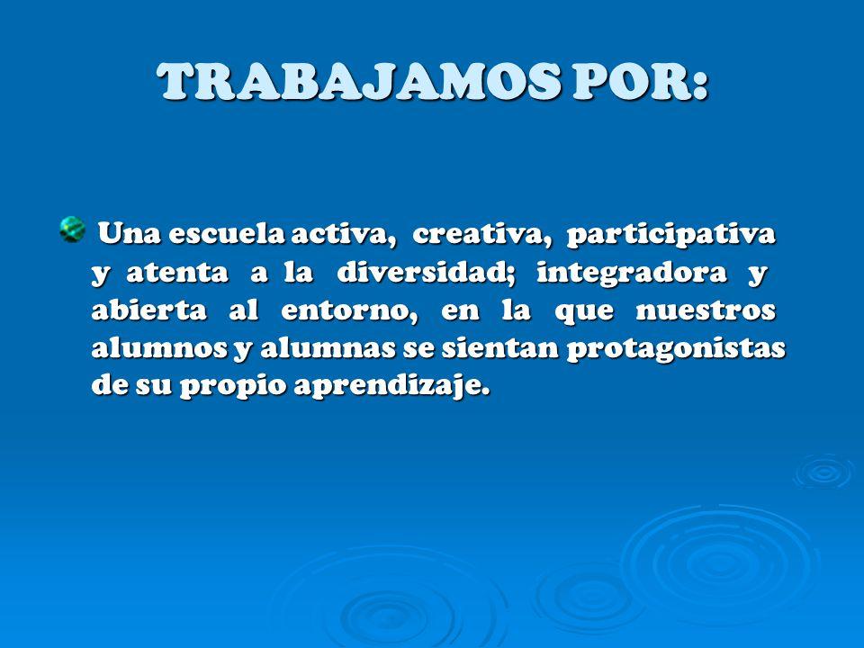 TRABAJAMOS POR: Una escuela activa, creativa, participativa