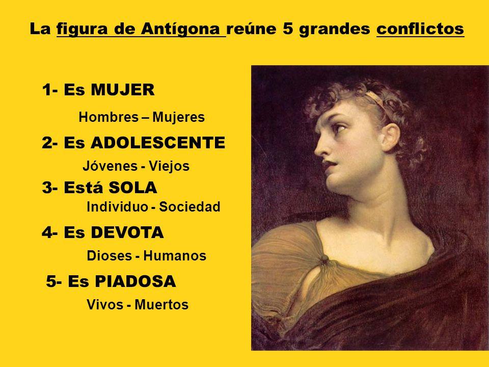 La figura de Antígona reúne 5 grandes conflictos