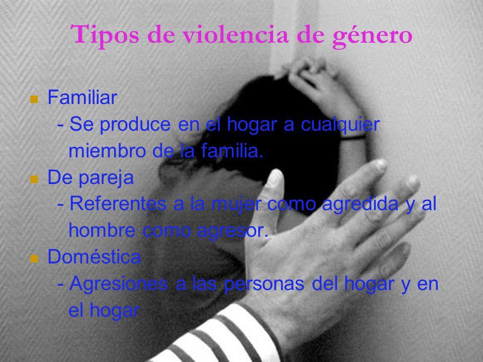 Tipos de violencia de género