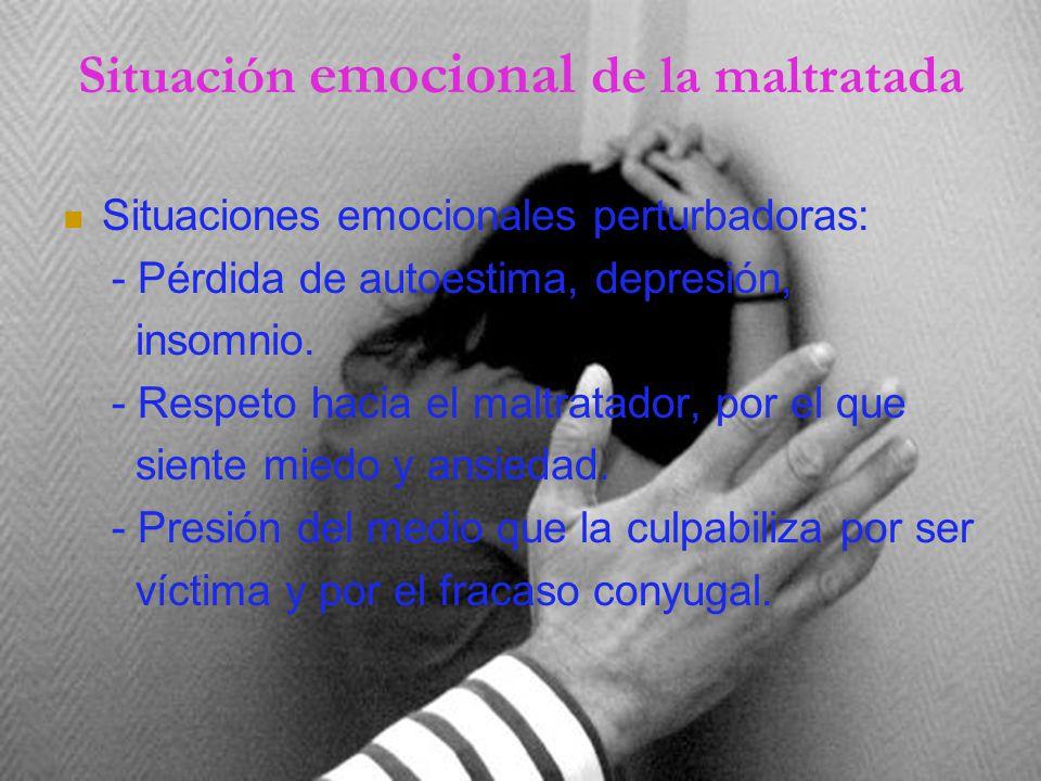 Situación emocional de la maltratada