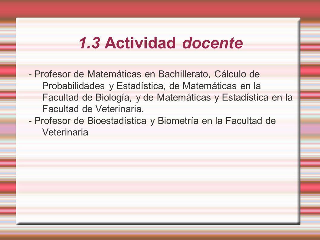 1.3 Actividad docente